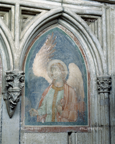 SEA-F-000117-0000 - Wall painting of an angel in the Cathedral of Saint-Nazaire in Beziers - Date of photography: 1996 - Seat Archive/Alinari Archives