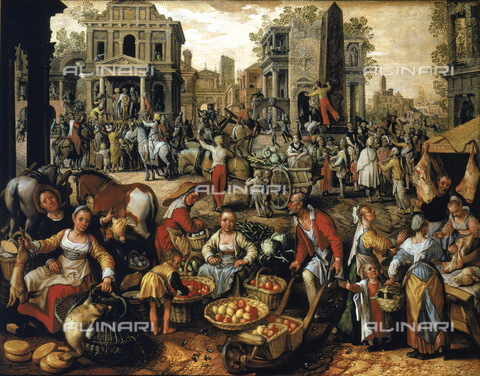 SEA-F-000247-0000 - 'Market with Ecce Homo', painting by J. De Bouckelaer formerly in the storerooms of the Uffizi Gallery in Florence. Now in the Museum of Still Life (Natura Morta), deposits. - Date of photography: 1996 - Seat Archive/Alinari Archives, Reproduced with the permission of Ministero per i Beni e le Attività Culturali