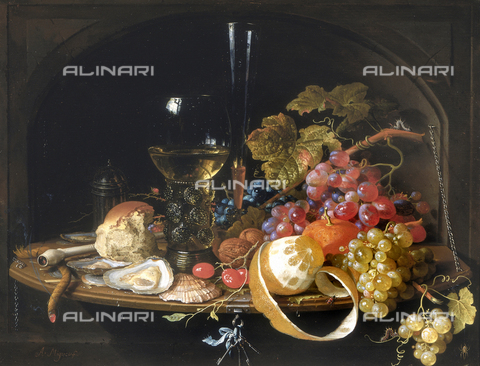 SEA-F-000260-0000 - 'Still life', painting by A. Mignon, formerly in the Uffizi Gallery in Florence. Now in the Museum of Still Life (Natura Morta), deposits. - Date of photography: 1996 - Seat Archive/Alinari Archives, Reproduced with the permission of Ministero per i Beni e le Attività Culturali