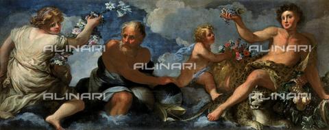 SEA-F-000265-0000 - 'Autumn', painting by Cesare Dandini and Andrea Scacciati the Elder, in Palazzo Montecitorio, in Rome - Date of photography: 1996 - Seat Archive/Alinari Archives