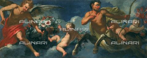 SEA-F-000266-0000 - 'Spring', painting by Cesare Dandini and Andrea Scacciati the Elder, in Palazzo Montecitorio, in Rome - Date of photography: 1996 - Seat Archive/Alinari Archives