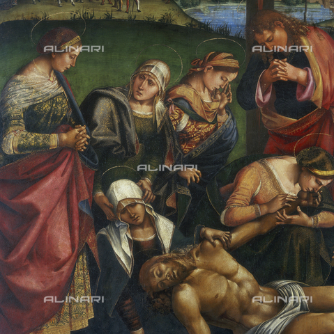 SEA-S-AR1984-0005 - Lamentation over the Dead Christ (detail), Tempera on wood, Luca Signorelli (1445-1523), Diocesan Museum, Cortona - Date of photography: 1984 - Seat Archive/Alinari Archives