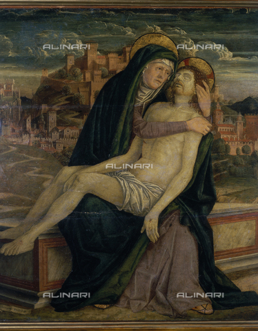SEA-S-BG1981-0003 - Pity, tempera on panel, Girolamo da Treviso (1508-1544), Academy of Beaux Arts Tadini, Lovere, Bergamo - Date of photography: 1981 - Seat Archive/Alinari Archives