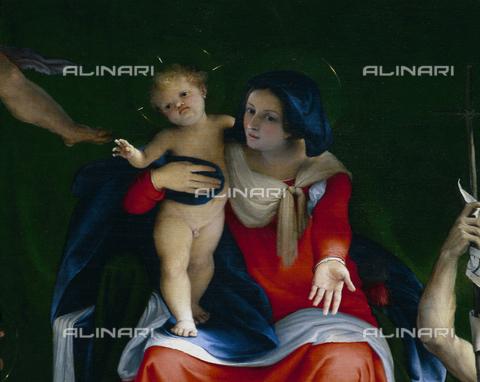SEA-S-BG1998-0012 - Pala di San Bernardino, particolare, olio su tela, Lorenzo Lotto (ca. 1480-1556), Chiesa di S. Bernardino in Pignolo, Bergamo - Data dello scatto: 1998 - Archivi Alinari, Firenze