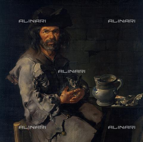 SEA-S-BS1984-0005 - Two Beggars (detail), oilo on canvas, Giacomo Ceruti said Pitocchetto (1698-1767), Tosio-Martinengo Picture Gallery, Brescia - Date of photography: 1984 - Seat Archive/Alinari Archives