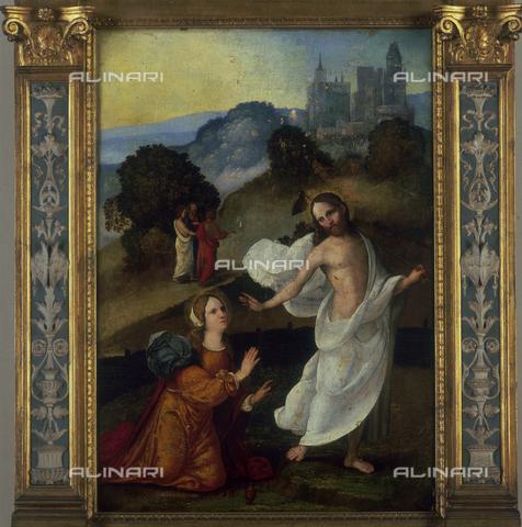 SEA-S-BS1984-0006 - Noli Me Tangere, wood transferred to canvas, Ludovico Mazzolino (1480-1528), Tosio-Martinengo Picture Gallery, Brescia - Date of photography: 1984 - Seat Archive/Alinari Archives