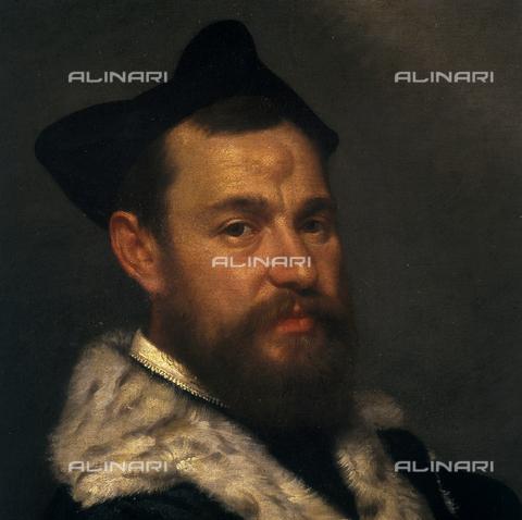 SEA-S-BS1984-0013 - Portrait of a magistrate (detail), oil on canvas, Giovan Battista Moroni (1522-1579), Tosio-Martinengo Picture Gallery, Brescia - Date of photography: 1984 - Seat Archive/Alinari Archives