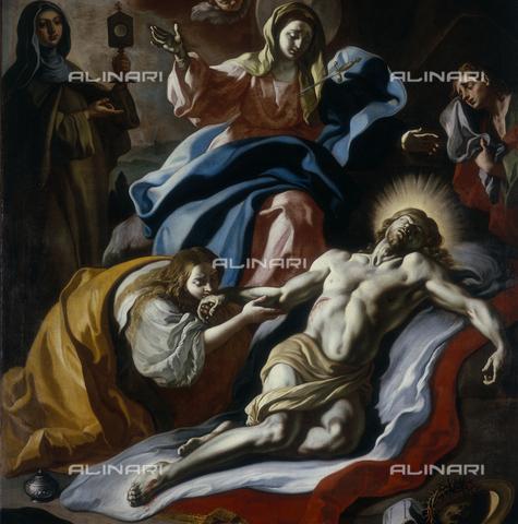 SEA-S-CA1983-0001 - Pietà, oil on canvas, José de Ribera said the Spagnoletto (1591-1652), Museo di San Francesco, Aversa, Caserta - Date of photography: 1983 - Seat Archive/Alinari Archives