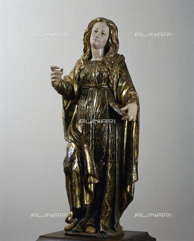 SEA-S-CA2001-0005 - Santa Lucia, legno, scuola sarda, Museo del Tesoro di Sant'Eulalia, Cagliari - Data dello scatto: 2001-2002 - Archivi Alinari, Firenze