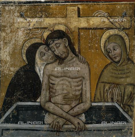 SEA-S-CN1981-0010 - Pietà, fresco, attributed to Tommaso Biazaci by Busca, Casa Cavassa Municipal Museum, Saluzzo, Cuneo - Date of photography: 1981 - Seat Archive/Alinari Archives