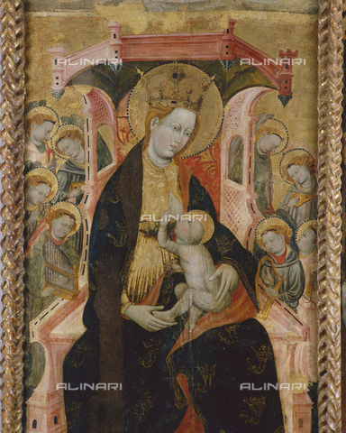 SEA-S-OR2000-0005 - Madonna del latte, detail from the Retablo di San Martino, tempera on wood, Master of the Catalan-Aragonese school, Archaeological Museum and Archaeological Museum, Oristano - Data dello scatto: 2000 - Archivi Alinari, Firenze