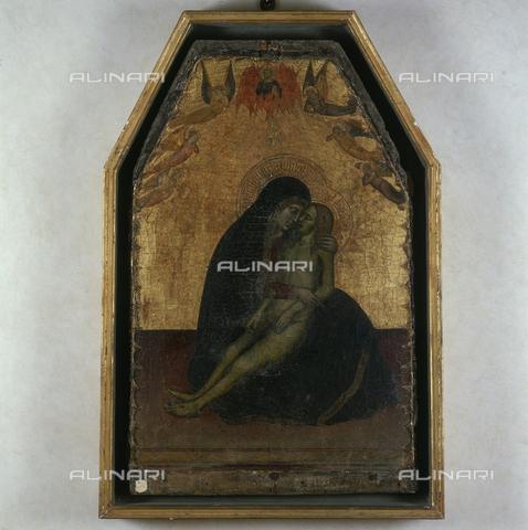 SEA-S-PI1983-0004 - Pietà, tempera on panel, Francesco Neri da Volterra (1343-1371), Municipal Art Gallery, Volterra - Date of photography: 1983 - Seat Archive/Alinari Archives