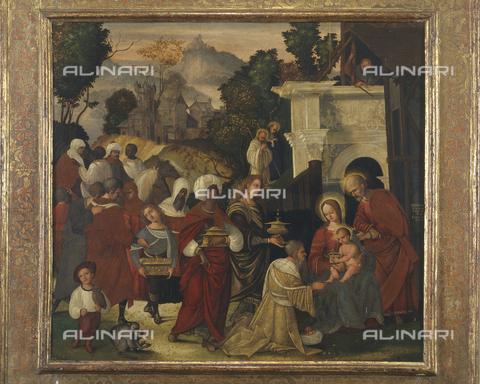 SEA-S-PR1996-0002 - Adorazione dei Magi, olio su tavola, Mazzolino, Ludovico (1480-1528), Fondazione Magnani Rocca, Mamiano di Traversetolo, Parma - Data dello scatto: 1996 - Archivi Alinari, Firenze