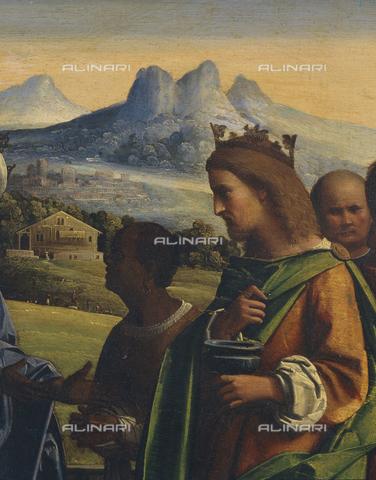 SEA-S-PR1996-0007 - Adorazione dei Magi, olio su tavola, Giovanni Battista Benvenuti, detto l'Ortolano (1480 ca.–1525), Fondazione Magnani Rocca, Mamiano di Traversetolo, Parma - Data dello scatto: 1996 - Archivi Alinari, Firenze