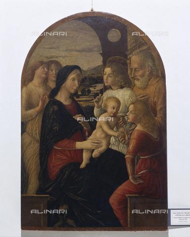 SEA-S-PR1996-0013 - Sacra Famiglia e angeli, dipinto, Orioli, Pietro di Francesco (1458-1496), Fondazione Magnani Rocca, Mamiano di Traversetolo, Parma - Data dello scatto: 1996 - Archivi Alinari, Firenze