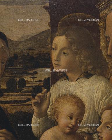 SEA-S-PR1996-0014 - Sacra Famiglia e angeli, particolare, dipinto, Orioli, Pietro di Francesco (1458-1496), Fondazione Magnani Rocca, Mamiano di Traversetolo, Parma - Data dello scatto: 1996 - Archivi Alinari, Firenze