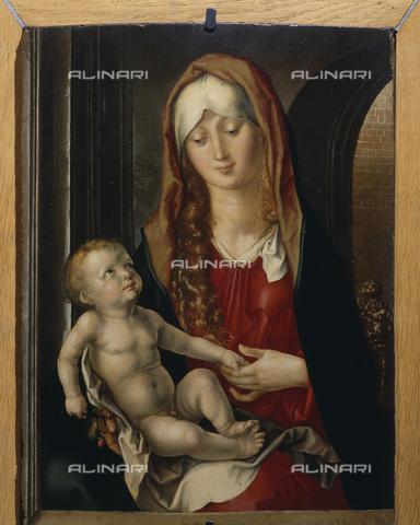 SEA-S-PR1996-0015 - Madonna col Bambino, detta anche Madonna del Patrocinio, olio su tavola, Albrecht Dürer (1471-1528), Fondazione Magnani Rocca, Mamiano di Traversetolo, Parma - Data dello scatto: 1996 - Archivi Alinari, Firenze