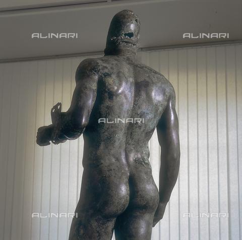 SEA-S-RC1984-0002 - One of the two Riace Bronzes: the Warrior B. Statue in bronze, held at the National Museum of Reggio Calabria - Date of photography: 1984 - Seat Archive/Alinari Archives, Reproduced with the permission of Ministero per i Beni e le Attività Culturali