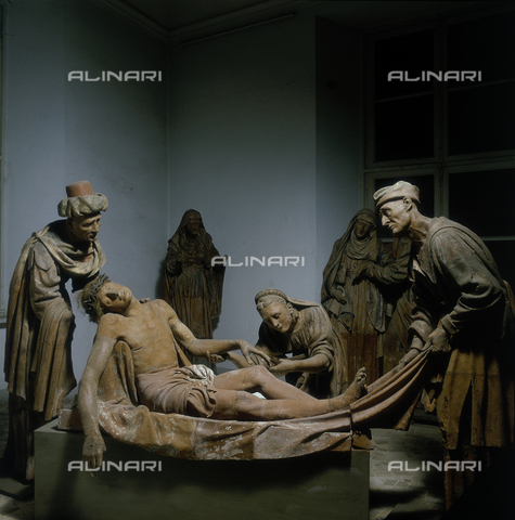 SEA-S-VC1983-0005 - The burial of Christ, terracotta, Giovanni d'Enrico (1559-1644), Art Gallery, Varallo, Vercelli - Date of photography: 1983 - Seat Archive/Alinari Archives