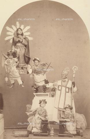 TCA-F-00240V-0000 - Rappresentazione sacra sui Misteri: Santa Maria Maddalena - Data dello scatto: 1874 - Archivi Alinari-donazione Trombetta, Firenze