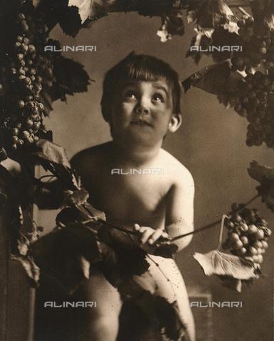"TCA-F-00259V-0000 - ""Autumn"": Portrait of child with grapes"