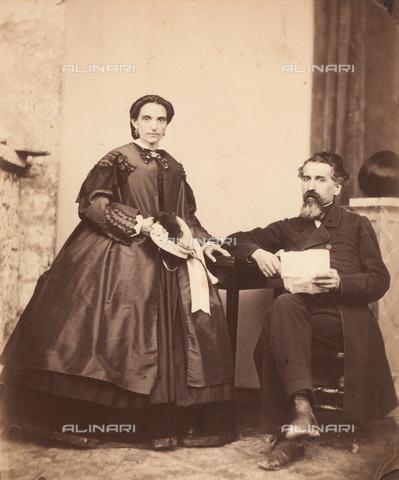 TCA-F-00461V-0000 - Ritratto di coppia - Data dello scatto: 1870 ca. - Archivi Alinari-donazione Trombetta, Firenze