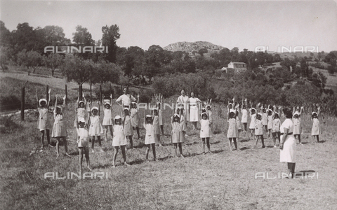TCA-F-00736V-0000 - Children in a summer camp exercising