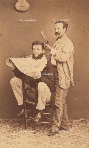 TCA-F-01398V-0000 - Il barbiere - Data dello scatto: 1863 ca. - Archivi Alinari-donazione Trombetta, Firenze