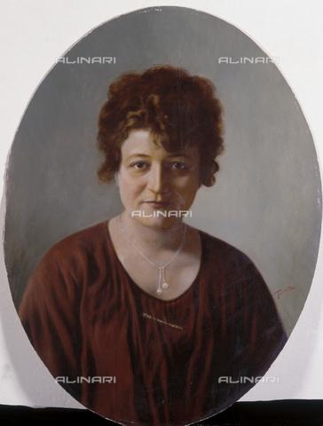 TCA-F-01431V-0000 - Ritratto di Delia De Giorgio Balestrieri con collana e spilla - Data dello scatto: 1890-1900 - Archivi Alinari-donazione Trombetta, Firenze