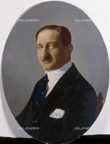 TCA-F-01432V-0000 - Ritratto del dottor Fabio Balestrieri con cravatta blu e fazzoletto nel taschino - Data dello scatto: 1890-1900 - Archivi Alinari-donazione Trombetta, Firenze