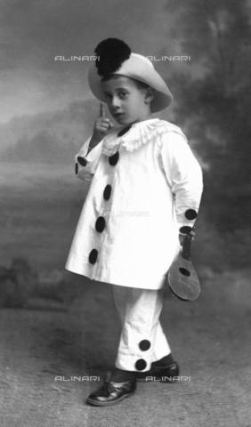 TCA-F-0468BV-0000 - Portrait of Enrico De Amicis dressed as Pierrot