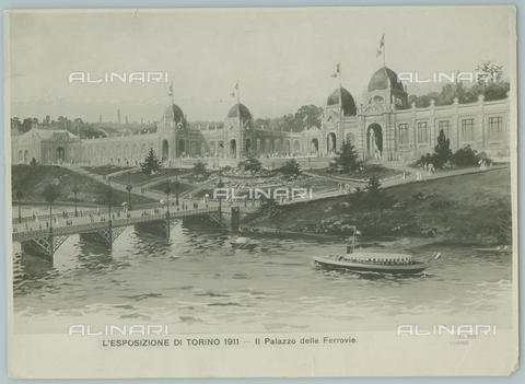 TCI-F-A03777-0000 - europa, italia, torino, esposizione, il palazzo delle ferrovie, 1911 - Touring Club Italiano/Gestione Archivi Alinari