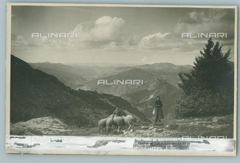 TCI-F-A04554-0000 - europa, italia, piemonte, pastori in val tanaro vista da sud verso nord, 1910 1920 - Touring Club Italiano/Gestione Archivi Alinari