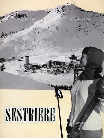 TCI-F-A05140-0000 - Pubblicità del Sestriere - Data dello scatto: 1950 ca. - Touring Club Italiano/Gestione Archivi Alinari