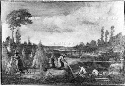 TCI-F-I11546-0000 - Estrazione della canapa dal macero, Il Guercino (detto), Barbieri Giovanni Francesco (1591-1666), Pinacoteca, Cento - Touring Club Italiano/Gestione Archivi Alinari