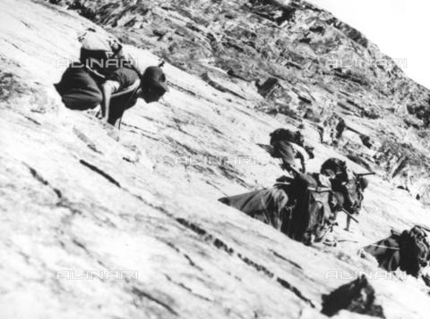 TCI-S-000655-AR05 - Alpini del battaglione Aosta - Data dello scatto: 1949 - Touring Club Italiano/Gestione Archivi Alinari