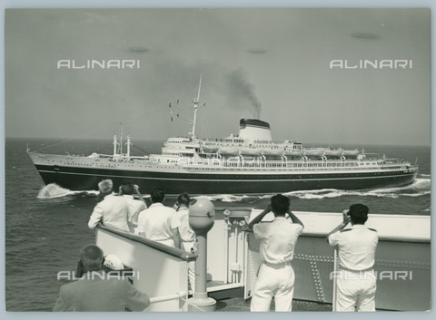 TCI-S-012414-AR03 - christopher columbus ocean liner at sea, 1961 - Touring Club Italiano/Alinari Archives Management
