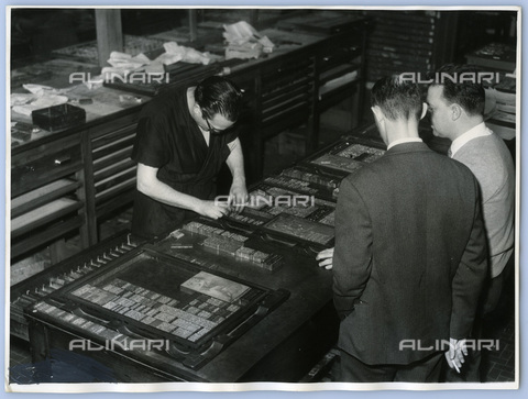 TCI-S-015100-AR03 - phase of the newspaper layout, 1960 - Touring Club Italiano/Alinari Archives Management