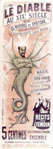 TOP-F-019787-0000 - Pubblicità per un libro sullo Spiritualismo e la magia di Rosacroce, ecc. 19° secolo, Archivio - 1999 / TopFoto / Archivi Alinari