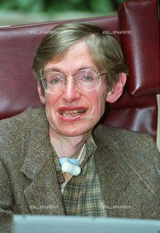 TOP-F-276512-0000 - Portrait of the scientist Stephen William Hawking (1942-2018) considered one of the most important physicists in the world - Data dello scatto: 20/04/1994 - 2004/UPP / TopFoto / Alinari Archives