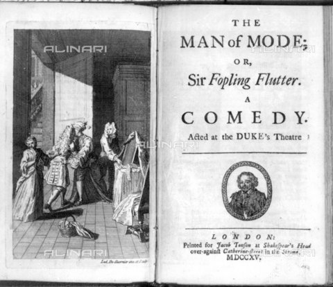"TOP-F-850083-0000 - Frontespizio della commedia teatrale ""The Man of Mode or Sir Fopling Flutter"", edizione del 1715 - TopFoto / Archivi Alinari"