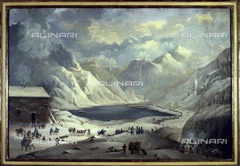 TOP-S-000114-5990 - Passo del Moncenisio, dipinto - Silvio Fiore / TopFoto / Archivi Alinari