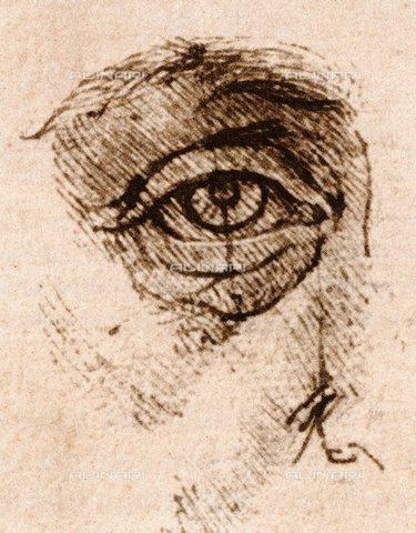 TOP-S-000130-5070 - Studio delle proporzioni dell'occhio e della palpebra, Leonardo da Vinci (1452-1519) - TopFoto / Archivi Alinari