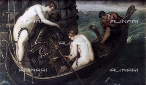 TOP-S-HIP002-3046 - Il salvataggio di Arsinoe, olio su tela, Jacopo Robusti detto il Tintoretto (1518-1594), Gemäldegalerie, Dresda - Art Media/ HIP / TopFoto / Archivi Alinari