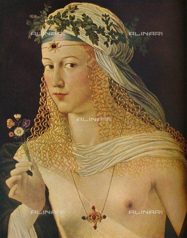 TOP-S-HIP032-4875 - Cortigiana ritratta come Flora, olio su tela, Bartolomeo Veneto (1502-1555), Städel Museum, Francoforte - The Print Collector / HIP / TopFoto / Archivi Alinari