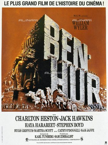 "TOP-S-WHA012-4635 - Locandina del film ""Ben Hur"" (1959) diretto da William Wyler con Charlton Heston e Jack Hawkins - TopFoto / Archivi Alinari, World History Archive"