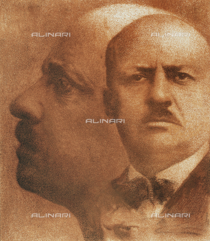 UAQ-F-001430-0000 - Double portrait of Filippo Tommaso Marinetti - Data dello scatto: 1932 - Archivi Alinari, Firenze