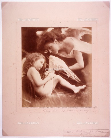 "UIG-F-030111-0000 - ""Venus chiding Cupid and Removing His Wings"", photography by Julia Margaret Cameron (1815-1879) - Data dello scatto: 1872 - SSPL / UIG/Alinari Archives"