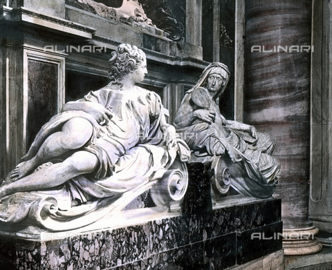 UIG-F-030888-0000 - Tomba di Papa Paolo III nella Basilica di San Pietro - Data dello scatto: 1920 - United Archives / UIG/Archivi Alinari