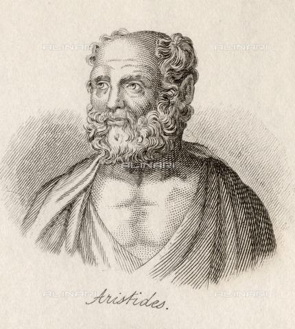 UIG-F-031085-0000 - Portrait of Athenian Christian philosopher Aristide, engraving by J.W.Cook - UIG/Alinari Archives